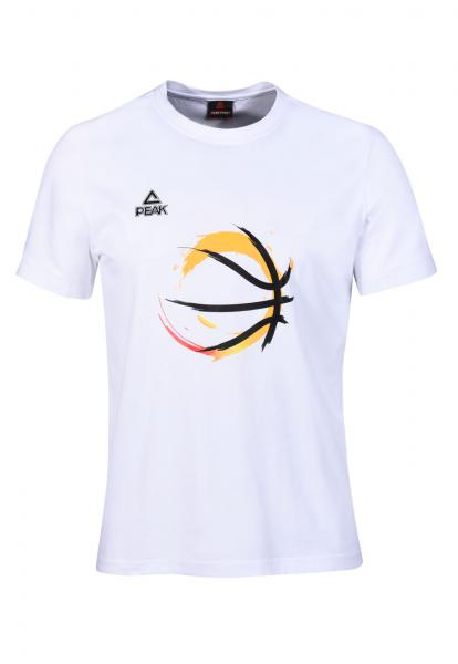 T-Shirt Basketball, weiß (Saison 2016/2017)
