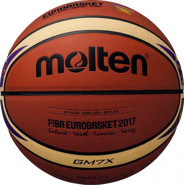Offizieller Replika-Ball der EuroBasket 2017 (Molten BGM7X-E7T)