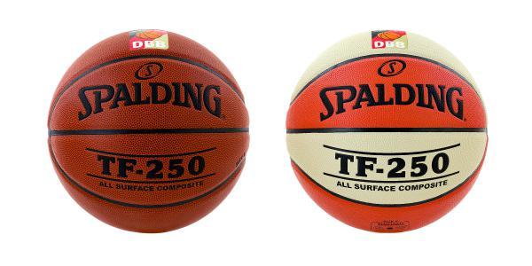 Vereinsballpaket Spalding TF 250 DBB (6 Bälle) Größe 5/6/7