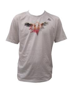 Fan T-Shirt Adler weiß