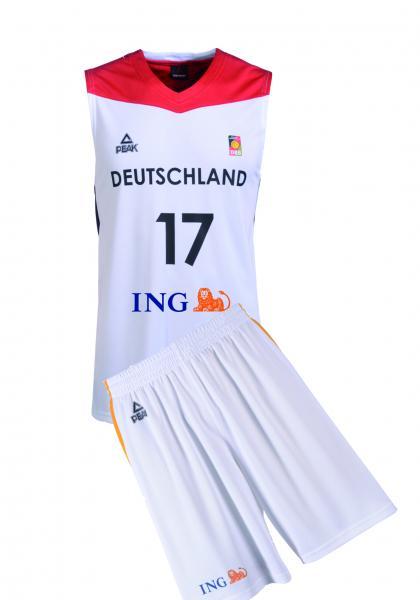 Trikot-SET Nationalmannschaft Herren, weiß (Saison 2016/2017)