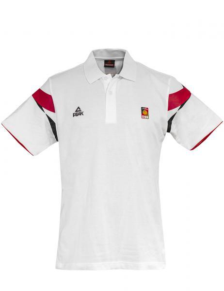 PEAK Herren Polo Deutschland, weiß (Saison 2014/2015)