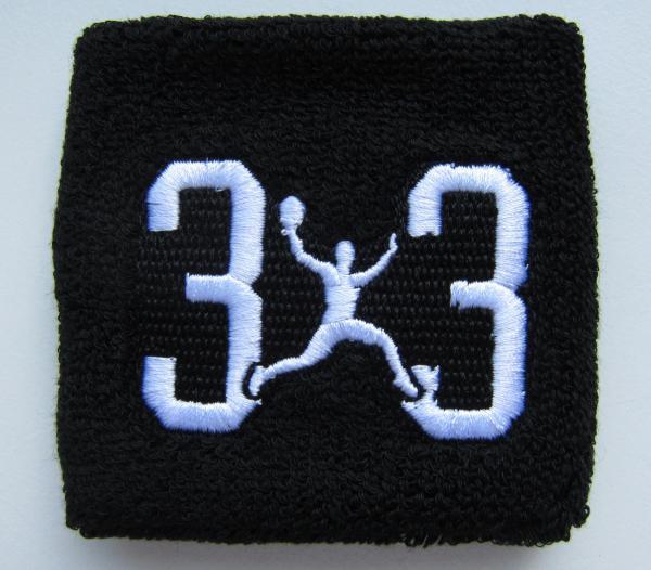 3x3 Schweißband schwarz