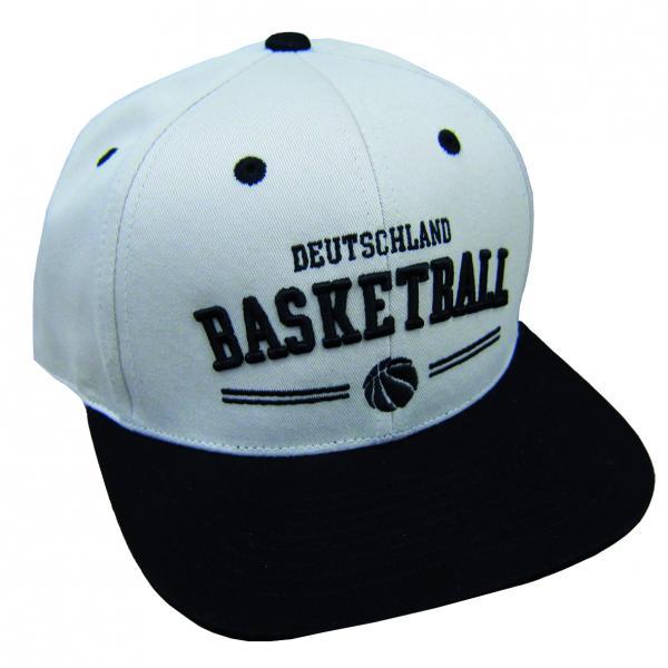 Cap Deutschland Basketball beige-schwarz