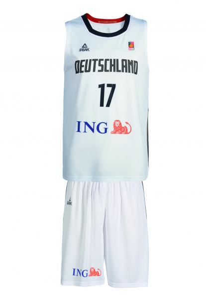 Trikot-SET Nationalmannschaft Herren, weiß (Saison 19/20)