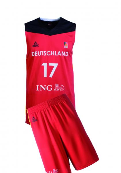 Trikot-SET Nationalmannschaft Herren, rot (Saison 2016/2017)
