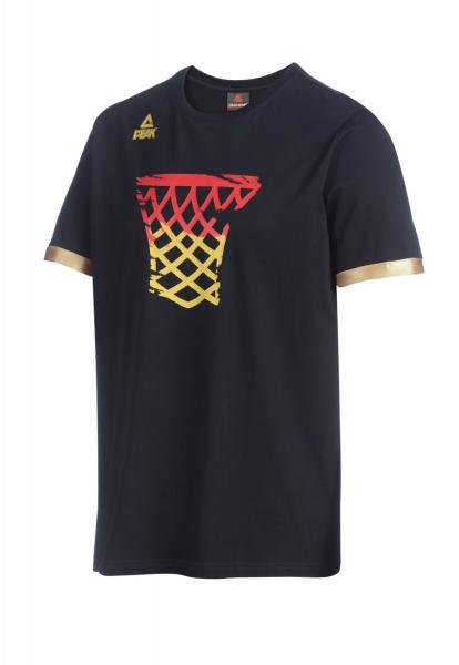 T-Shirt BASKET Nationalmannschaft Herren, schwarz (Saison 2019)