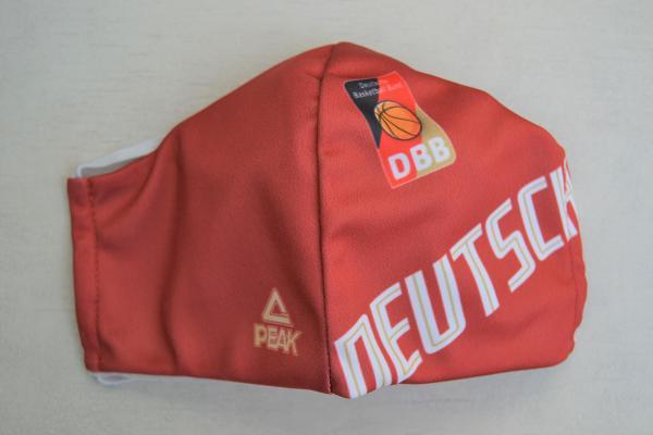 """Mehrweg - Mund-Nasen-Maske rot """"Deutschland"""""""