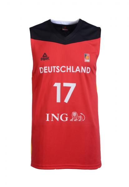 Trikot Nationalmannschaft Herren, rot (Saison 2016/2017)