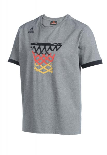 T-Shirt BASKET Nationalmannschaft Herren, grau (Saison 2019)