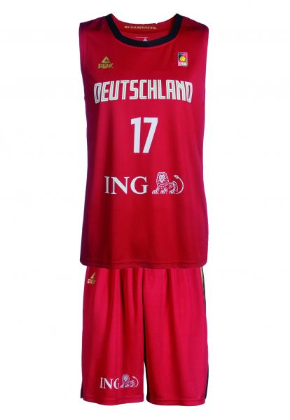 Trikot-SET Nationalmannschaft Herren, rot (Saison 2019)