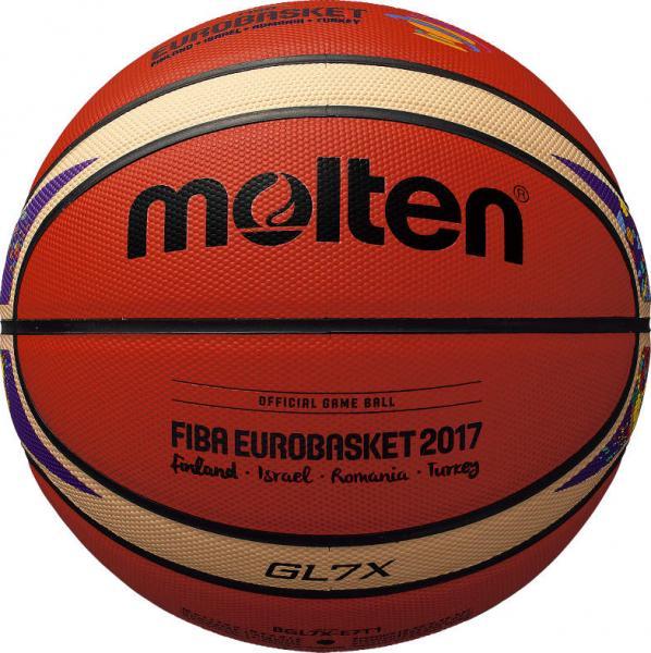 Offizieller Spielball der EuroBasket 2017 (Molten BGL7X-E7T)