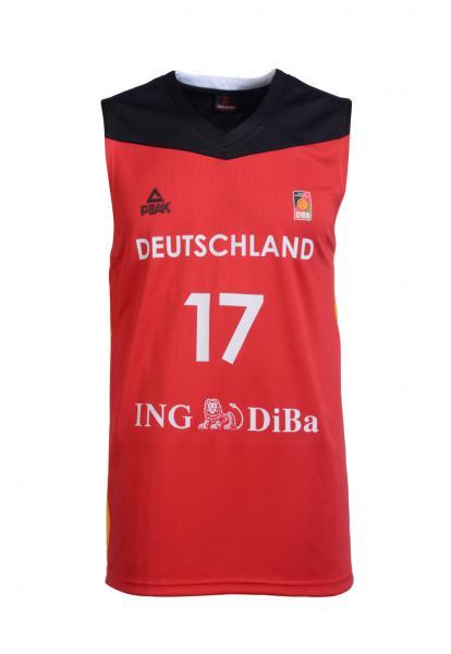 Trikot Nationalmannschaft Damen, rot (Saison 2016/2017)